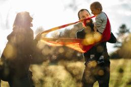 Zaskakujący pomysł na sesje rodzinną | spacer w Bieszczadach 5