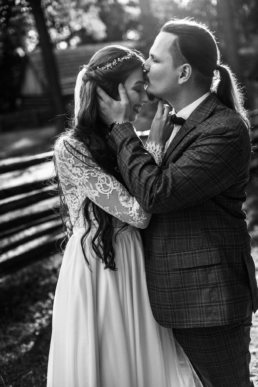 Słowiańska sesja ślubna | skansen w Sanoku 48