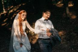Słowiańska sesja ślubna | skansen w Sanoku 54