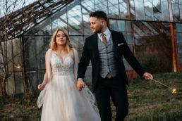 Sesja ślubna w opuszczonej szklarni | Ania i Maciek 13