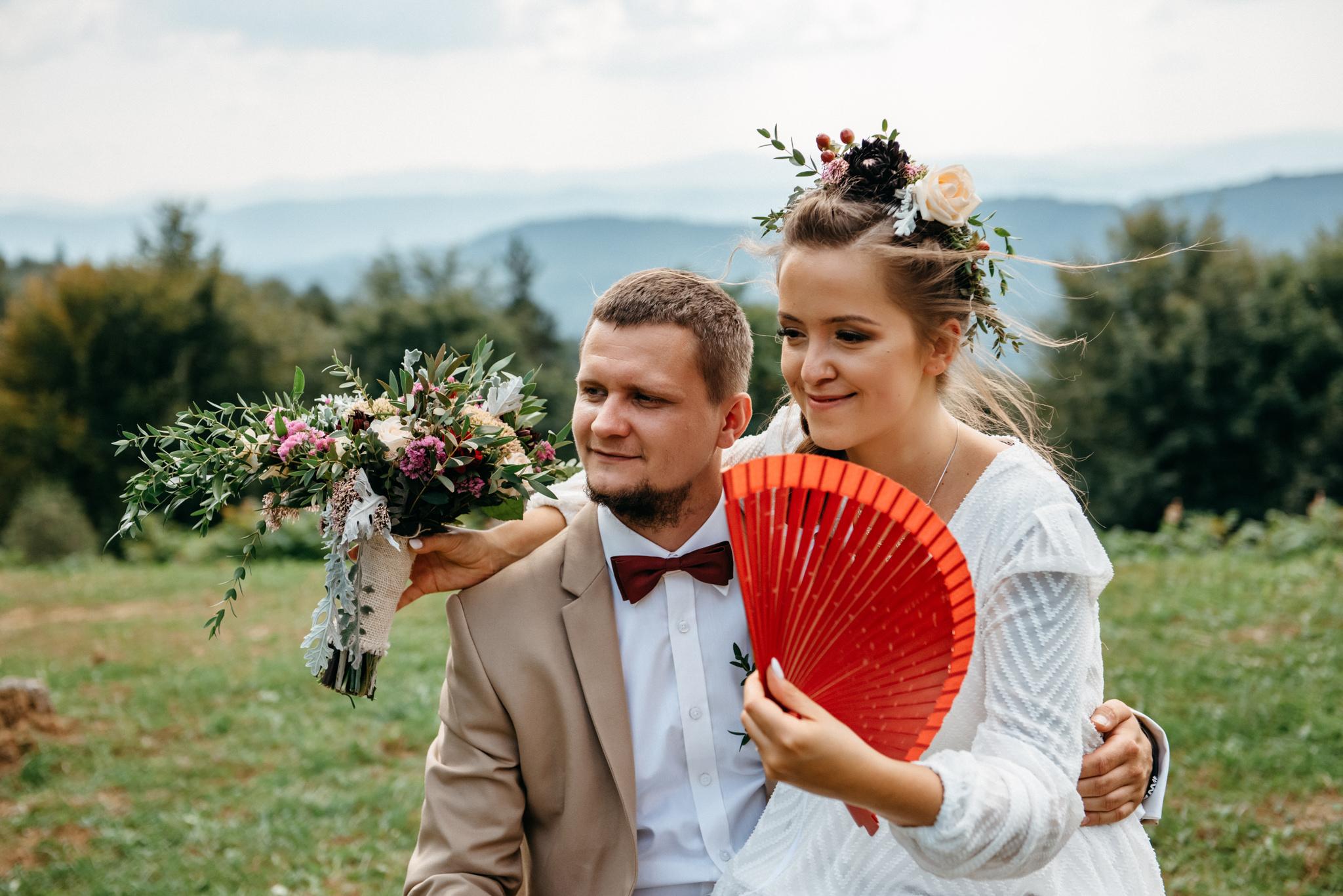 Plenerowy ślub w Bieszczadach | Karolina i Bartosz 42