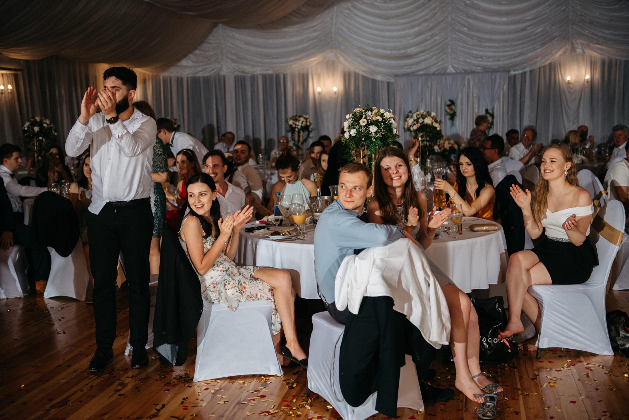 Plenerowe wesele w namiocie Ani i Maćka   Pałac w Olszanicy 110