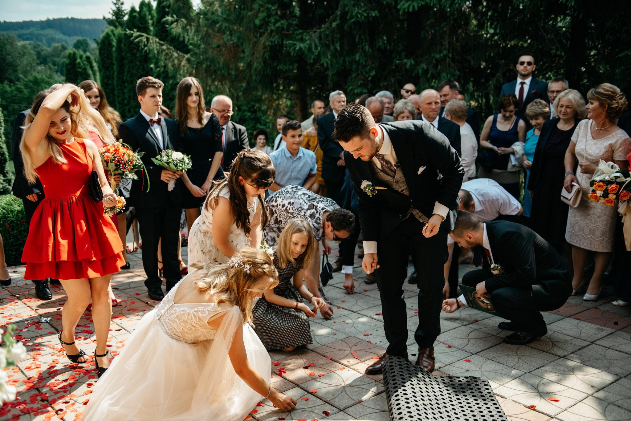 Plenerowe wesele w namiocie Ani i Maćka   Pałac w Olszanicy 43