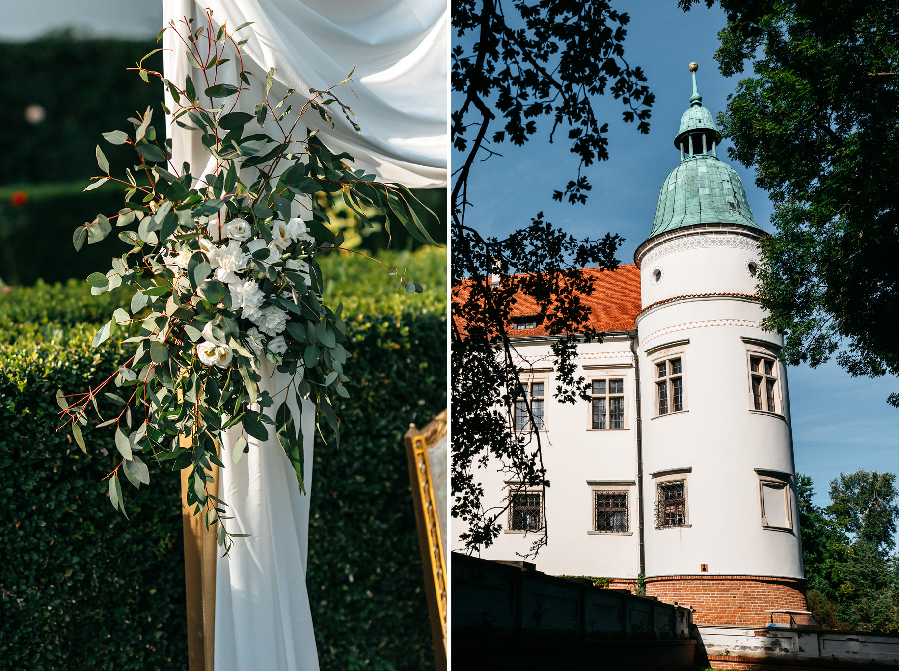 Plenerowy ślub na Zamku w Baranowie Sandomierskim 70