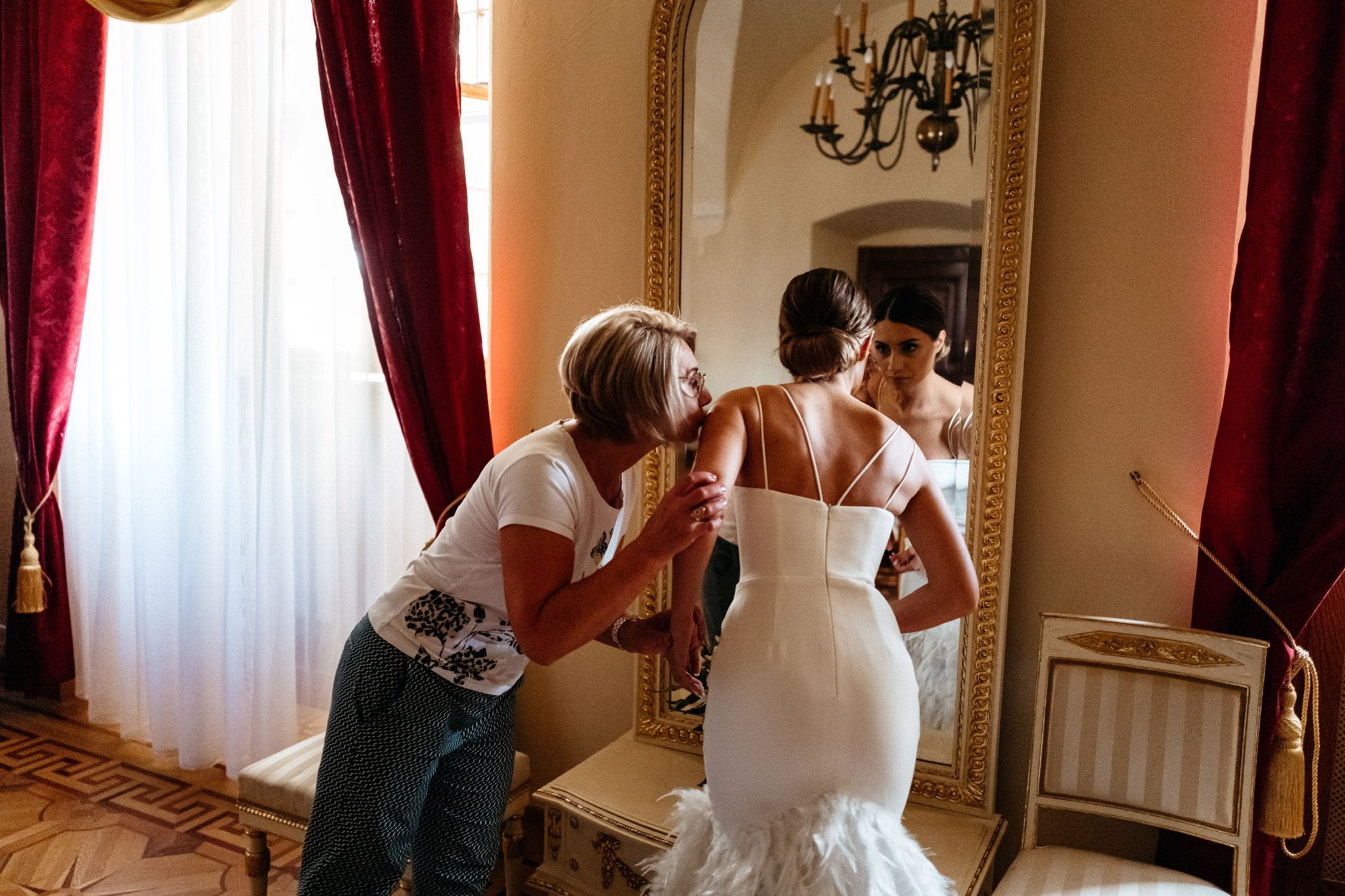 Plenerowy ślub na Zamku w Baranowie Sandomierskim 41
