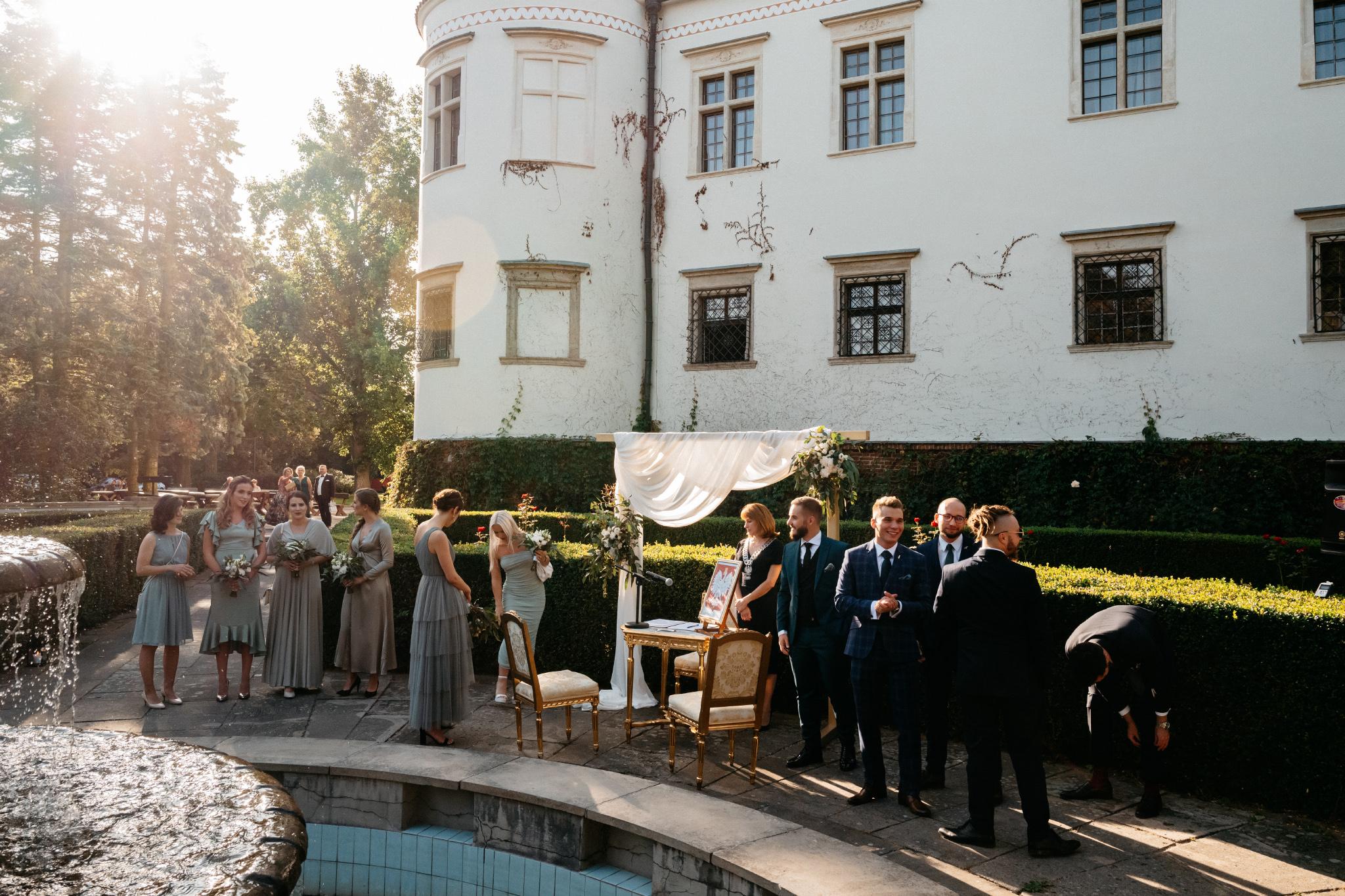 Plenerowy ślub na Zamku w Baranowie Sandomierskim 80