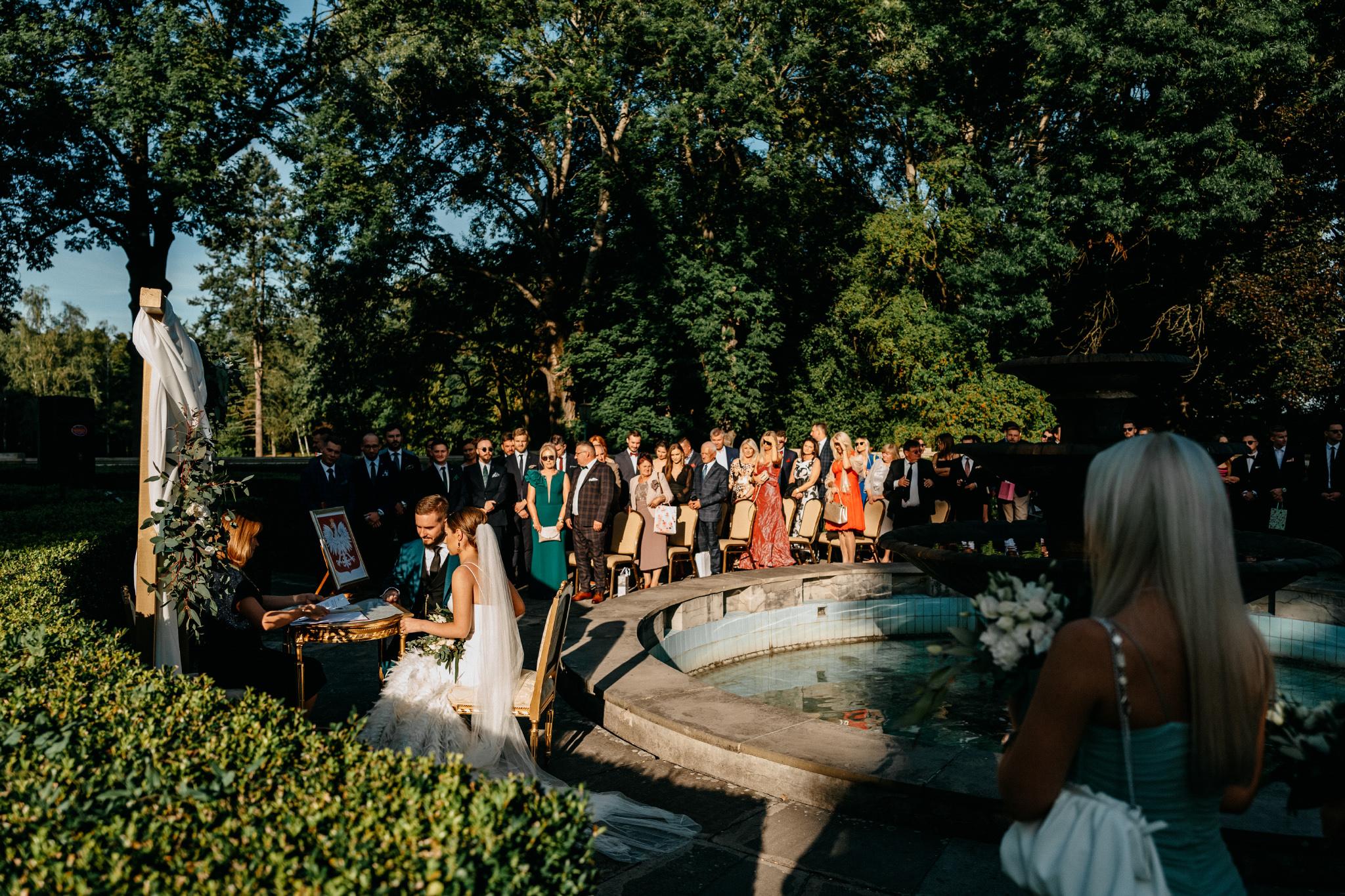 Plenerowy ślub na Zamku w Baranowie Sandomierskim 96