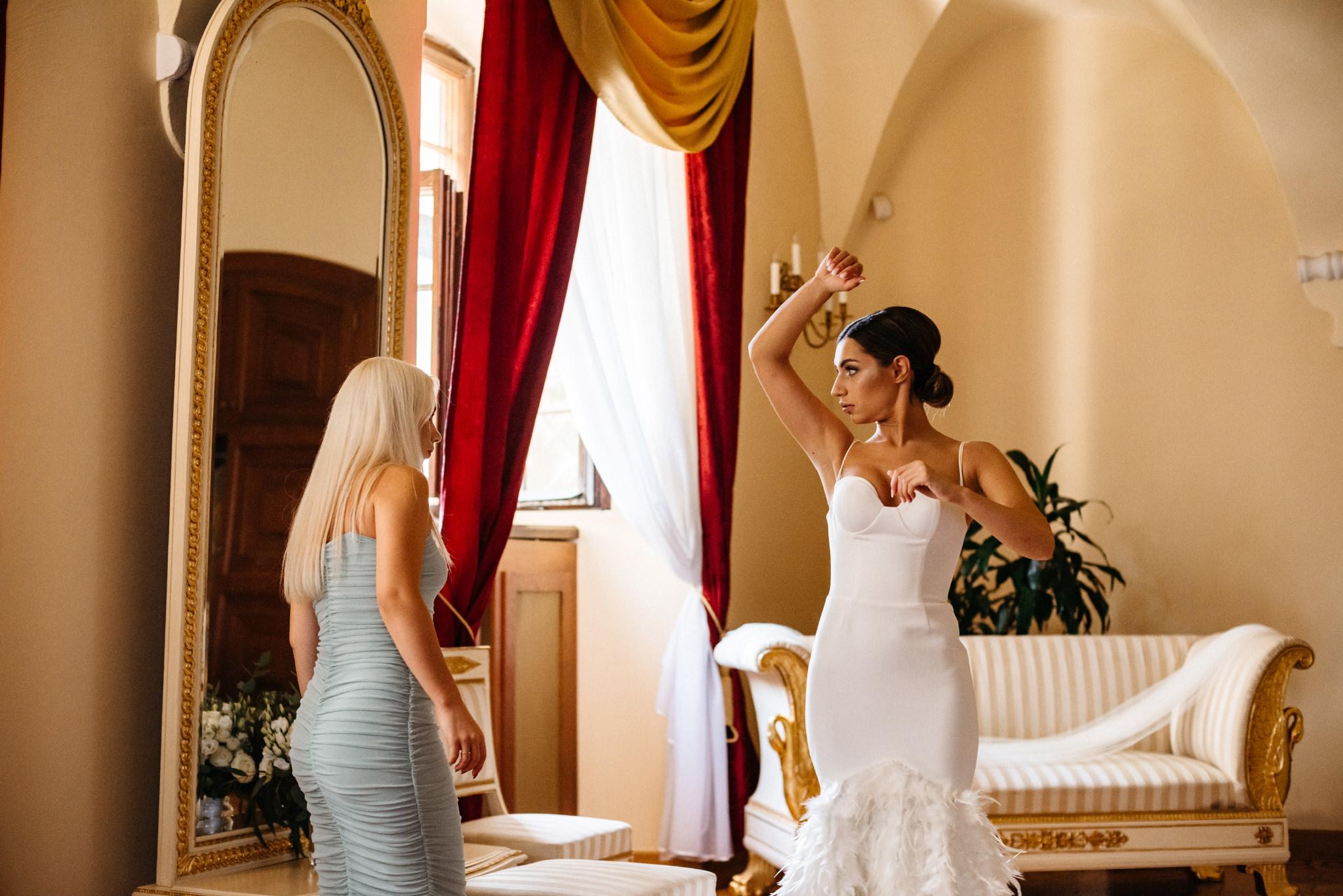 Plenerowy ślub na Zamku w Baranowie Sandomierskim 42